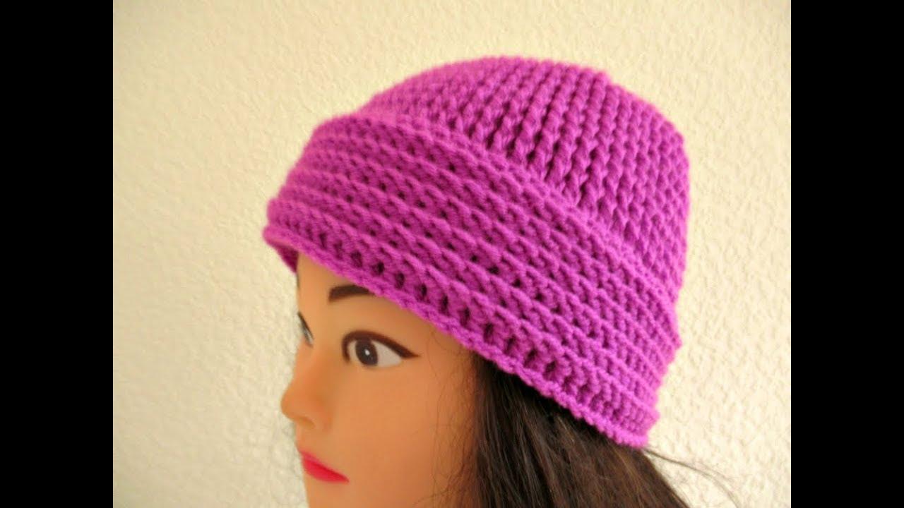 8712afb39b7 Crochet beanie hat Ladies Women s How to crochet tutorial 20