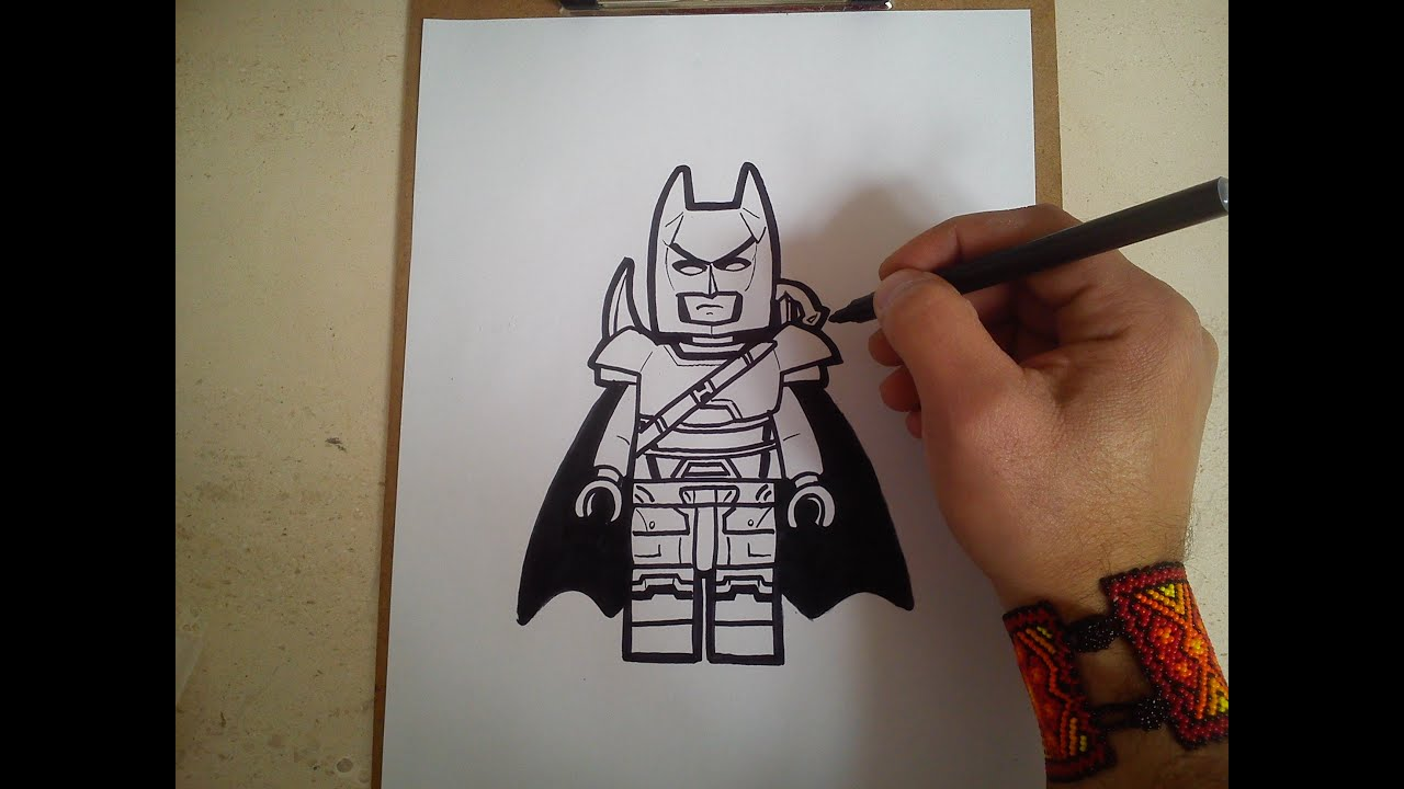 "Como Dibujar A Batman Armadura ""lego"" / How To Draw Batman"