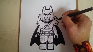 """Como dibujar a batman armadura  """"lego"""" / how to draw batman vs superman batman armor """"lego"""""""