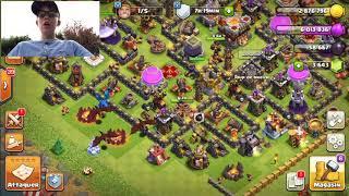 Présentation de mon village clash of clans+mon clans