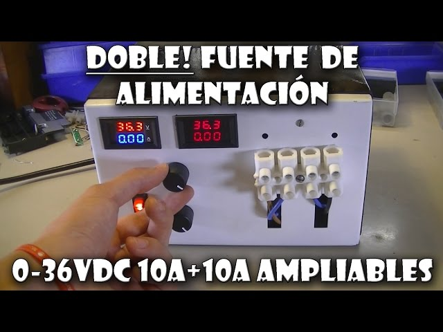 DOBLE FUENTE A. VARIABLE 1,25-36VDC 10A o mas!