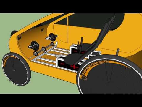 Pedal Electric Solar Velomobile