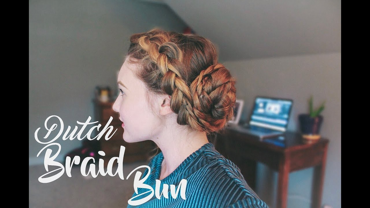 easy dutch braid bun | apostolic hair tutorial