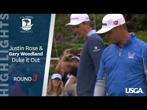 2019 U.S. Open, Round 3: Gary Woodland and Justin Rose