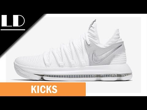 Nike KD 10 Chrome Pure Platinum Review! Much Better Than The KD 9!