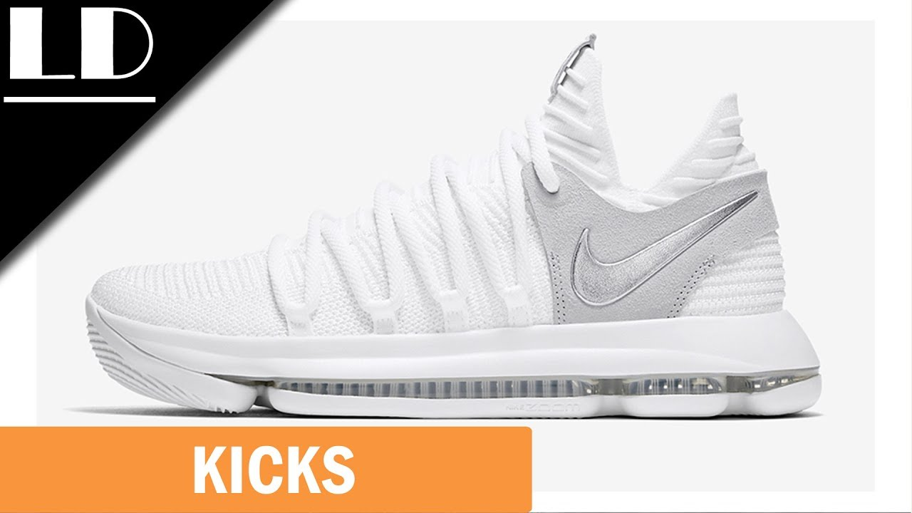 best website f8b31 dbb81 Nike KD 10 Chrome Pure Platinum Review! Much Better Than The KD 9!