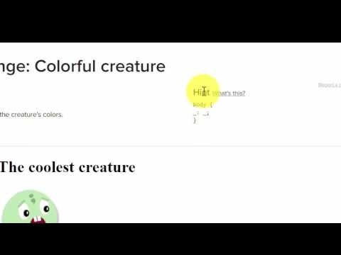 Colorful Creature Khan Academy