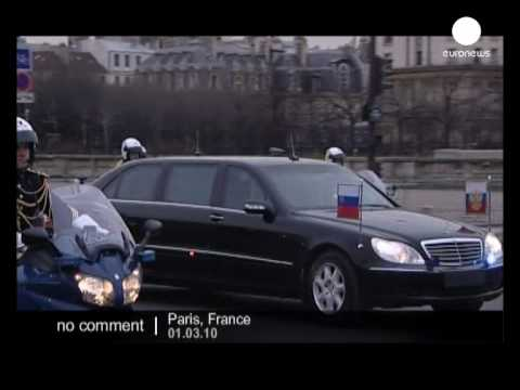 Heavy security as Russian president arrives in Paris - No comment