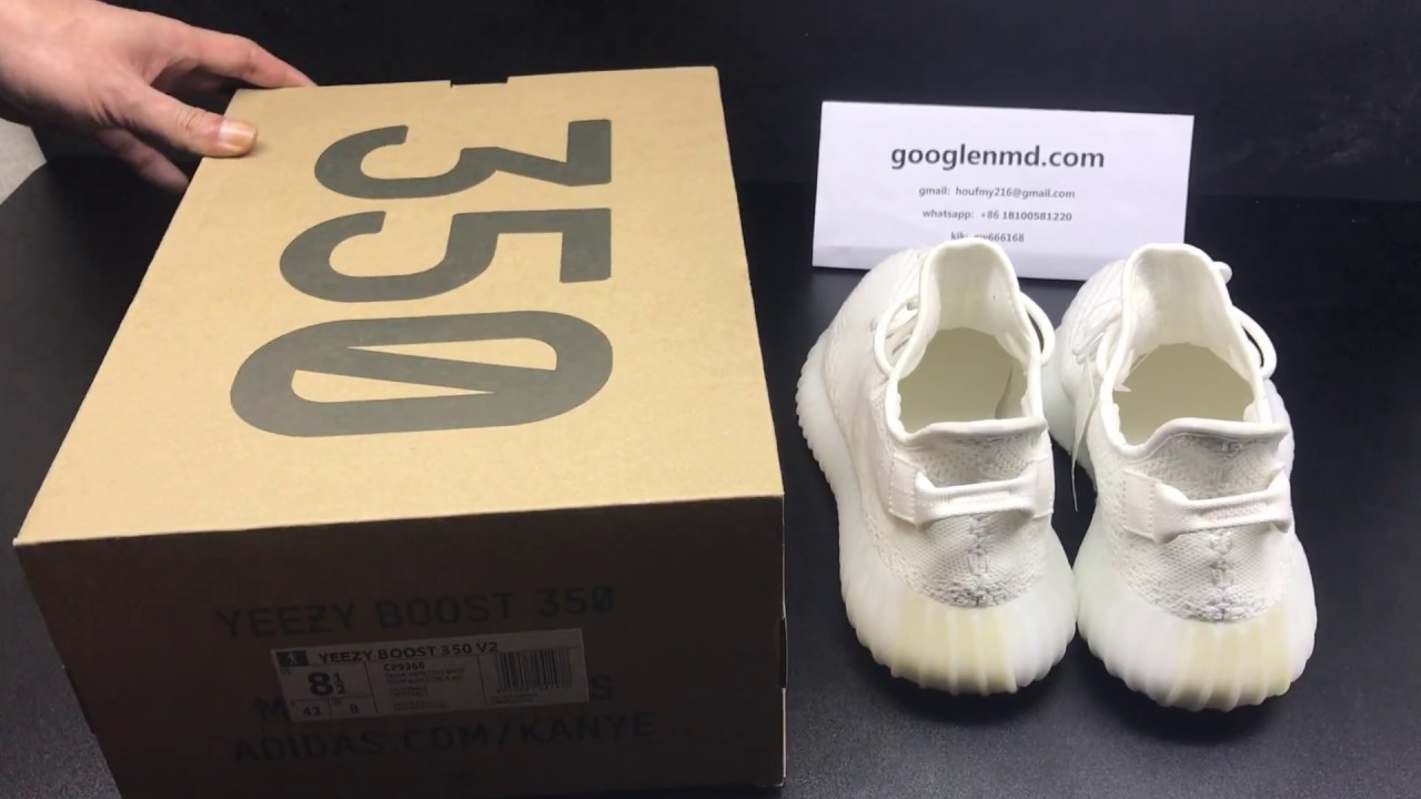 f4e8349333ae0 YEEZY BOOST 350 V2 CREAM WHITE TRIPLE WHITE - Real Vs. Fake (LEGIT CHECK)
