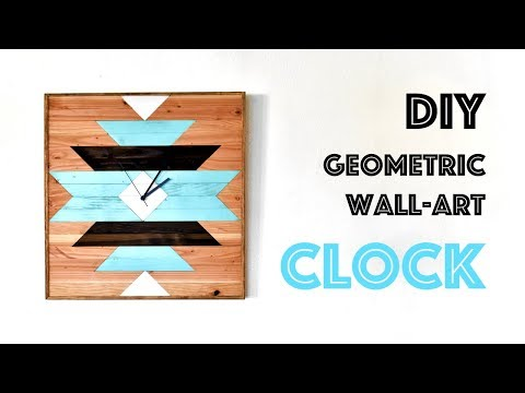 How to Build an Easy Geometric Wall Clock with 2x4's