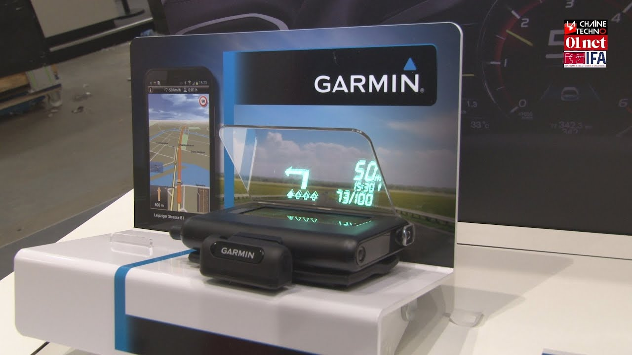 garmin veut d mocratiser l 39 affichage t te haute en voiture youtube. Black Bedroom Furniture Sets. Home Design Ideas