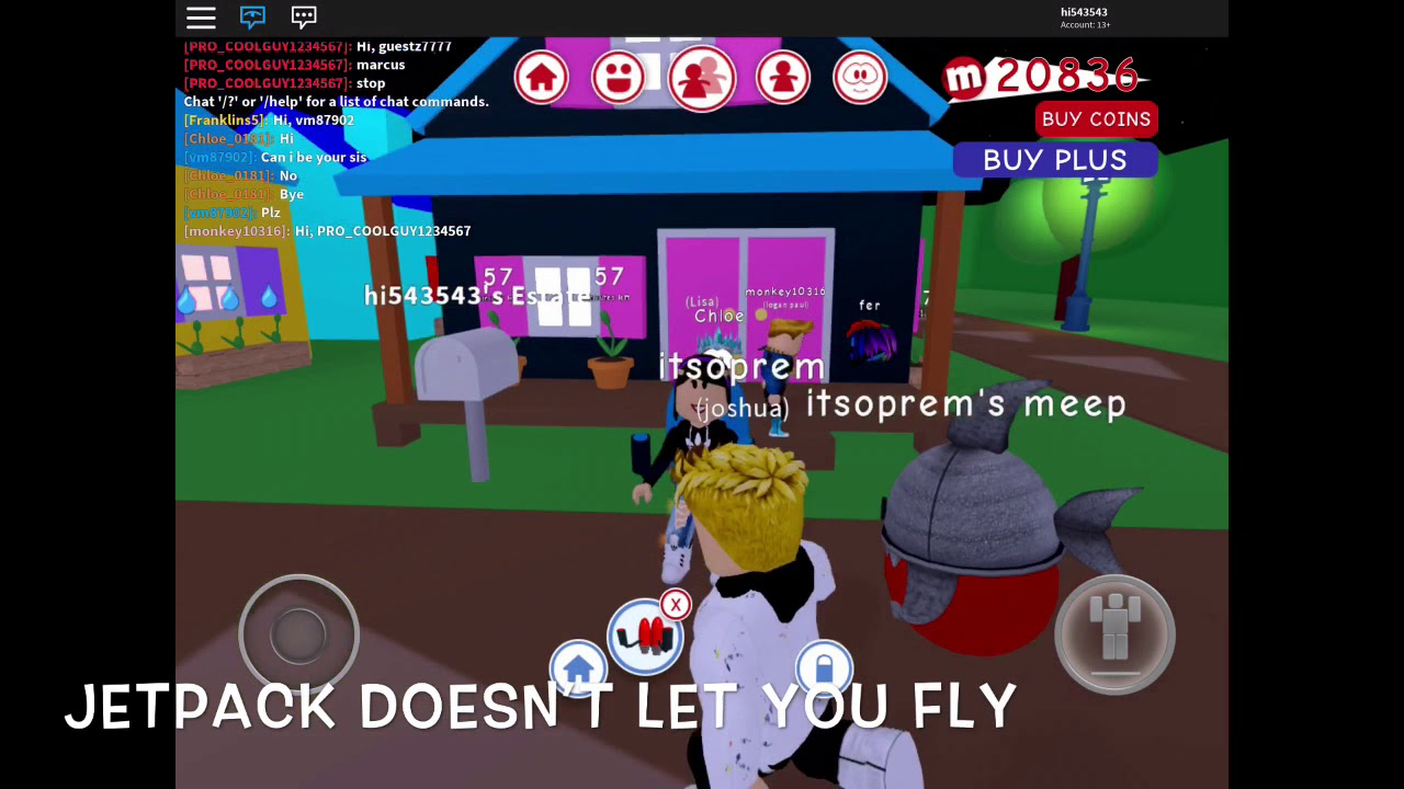 Itsfunneh Roblox Meep City Roblox Meep City Jetpack How To Get Free Robux On Ipad