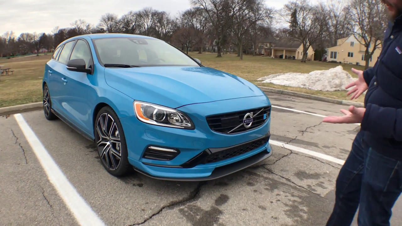 2018 Volvo V60 Polestar Exterior Interior And Train W Bonus Engine Sound