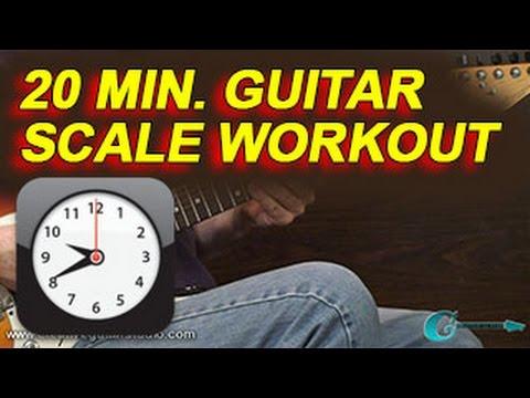 GUITAR TECHNIQUE: 20 min. Guitar Scale Workout
