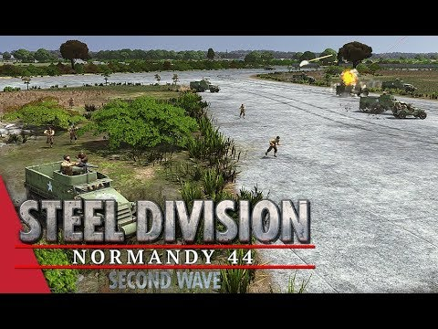 3rd Armored Only! Steel Division: Normandy 44 Gameplay (Carpiquet - Duellists, 4v4)