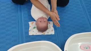 [산후도우미 교육용] 배꼽이 떨어지기전의  신생아 목욕…