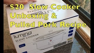 $20 Slow Cooker Unboxing & Pulled Pork Recipe cheekyricho cooking ep. 1,220