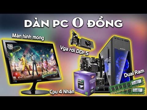 Cả Dàn Pc game Cpu 4 lõi, ram 8gb, vga ddr 5, màn hình giá 0 đồng   phô cập pc 07