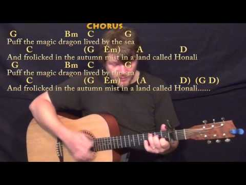 Puff the Magic Dragon - Strum Guitar Cover Lesson with Chords/Lyrics - Capo 2nd