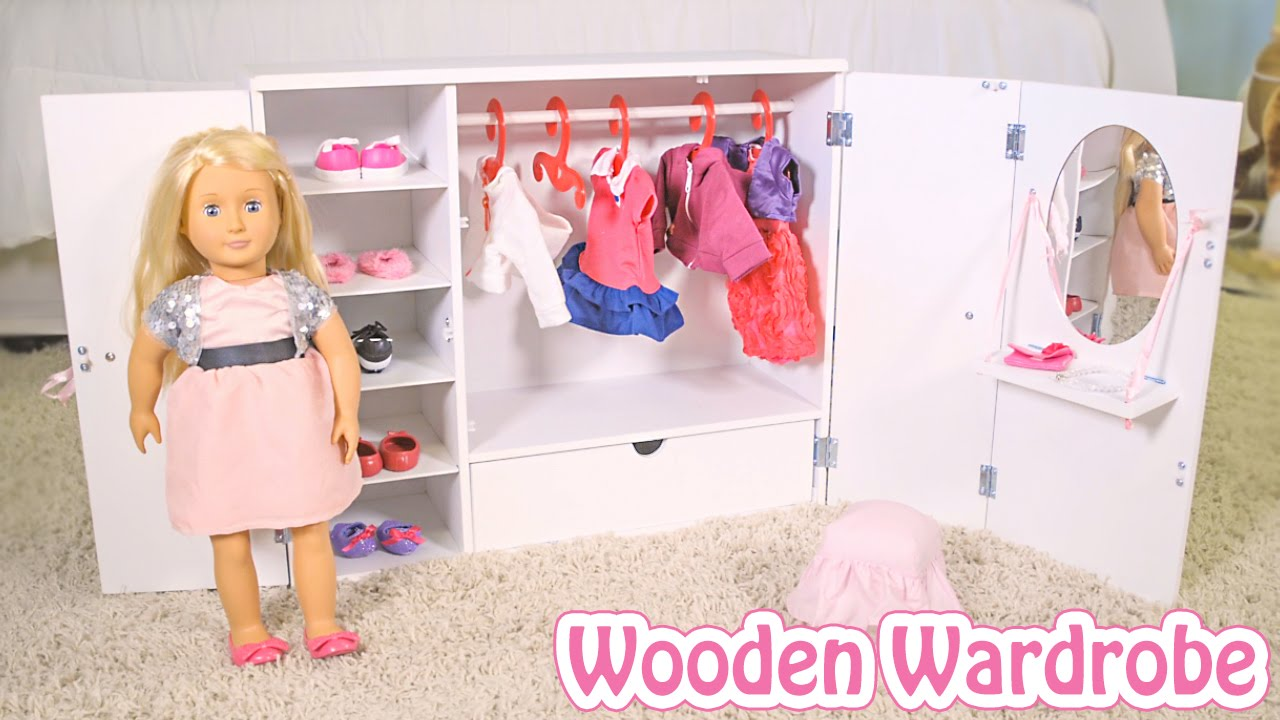 Wooden Wardrobe From Our Generation Youtube