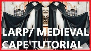 DIY medieval cosplay cape / cloak Tutorial   EASY  