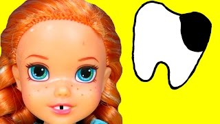 Download Sugar Bugs ! ANNA toddler at the Dentist ! - Little ELSA is there too Mp3 and Videos