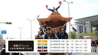 岸和田だんじり祭 カンカン場 試験曳き(2018年9月2日) ライブ中継