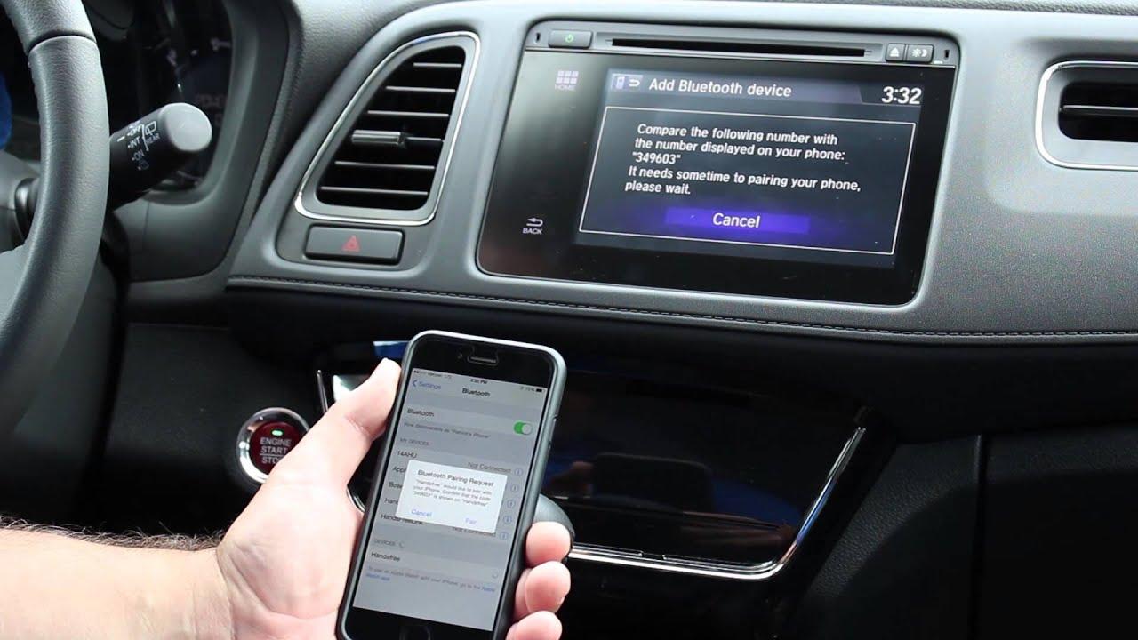 Bluetooth phone pairing in 2016 honda hr v youtube for Honda 800 number