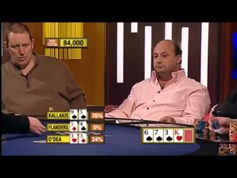 Insane Poker Hand - Straight Vs Flush Vs Quads