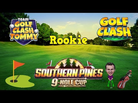Golf Clash tips, Playthrough, Hole 1-9 - ROOKIE - TOURNAMENT WIND! Southern Pines 9 Hole Cup!