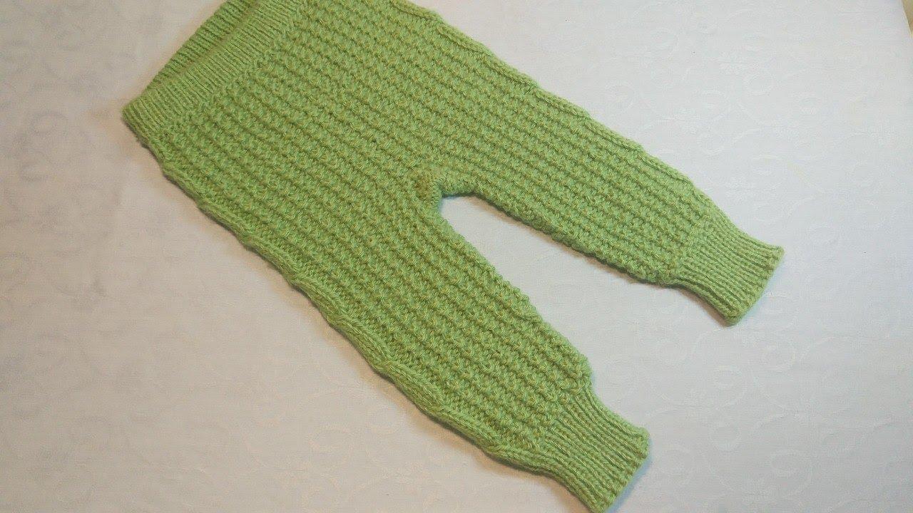 вязание спицами детские штанишкисвязанные сверху с ростком и