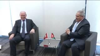 Turkish FM meets Jordan