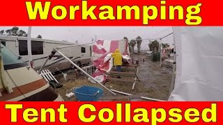 Work Camping Update Christmas Tree Lot Flooded & Tent Collapses In Rain Storm