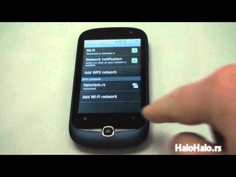 Alcatel OT 990 Wi-Fi podešavanje