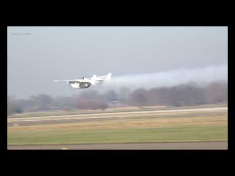 Cessna 0-2 Skymaster N509D low pass smoke on!! Teuge Airport 22-01-2017