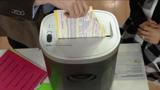 Royal MC10X 10-Sheet MicroCut Paper Shredder w/ Pull-Out Bin on QVC