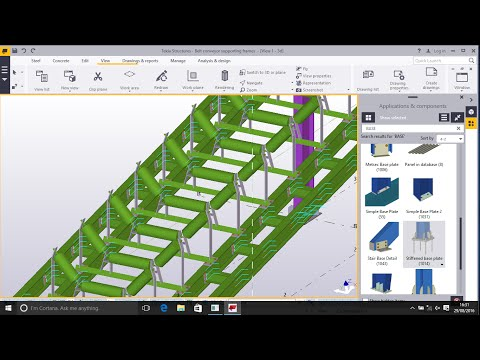 Belt Conveyor Support Structures Modelling in TEKLA STRUCTURES 2016