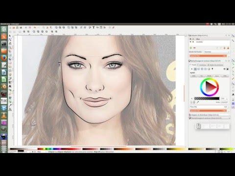 tuto inkscape : portrait ligne art