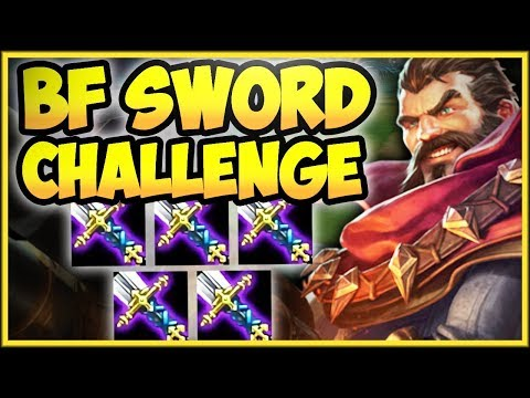 WTF ONE AUTO = ONE KILL 5 BF SWORD GRAVES IS SO DUMB BF SWORD GRAVES CHALLENGE League of Legends