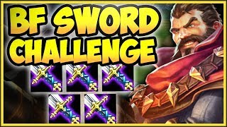 WTF! ONE AUTO = ONE KILL! 5 BF SWORD GRAVES IS SO DUMB! BF SWORD GRAVES CHALLENGE! League of Legends