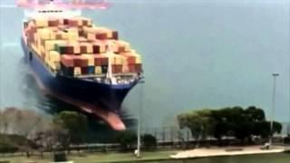 L'échouement d'un porte-conteneur à Hong Kong