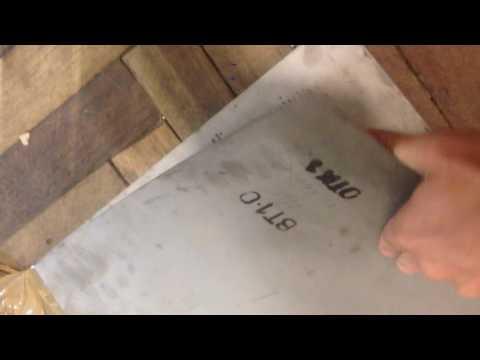 Титановый лист 0.5мм марки ВТ1-0