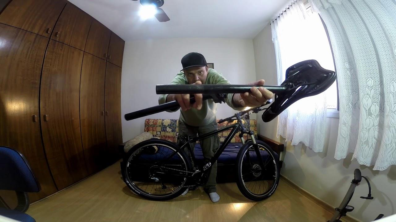 qual a altura maxima para colocar o canote do banco no quadro da bike