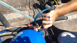 Operação válvulas de serviço de câmara fria