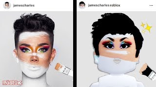 RECREATING JAMES CHARLES SELFIES IN ROBLOX!