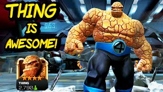 Marvel Contest of Champions. Thing Gameplay + Review. Destroying Northern Expeditions with Thing.