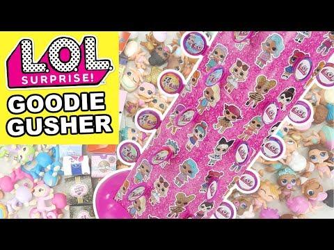 lol-surprise-goodie-gusher-pinata-|-l.o.l.-lil-sisters-fingerlings-minis-season-10-shopkins