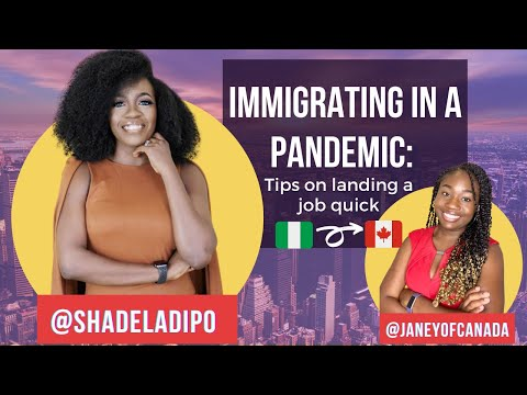 🔴 Shade Ladipo Talks Why She Moved To Canada In A Pandemic | Permanent Resident Job Search Tips