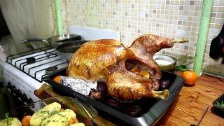 Рождественская индейка с картофелем (простой рецепт)