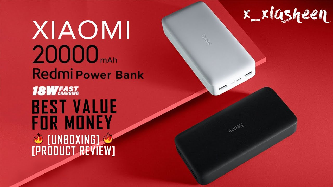 Redmi 20,000 mAh 18W Fast Charging Li-Po Power Bank UNBOXING  | PRODUCT REVIEW 2020 | x_xLASHEEN 8